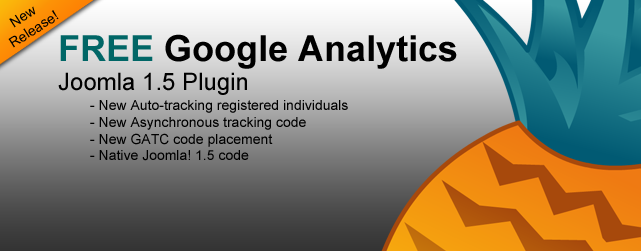 Joomla!1.5 Google Analytics Plugin w/ registered user tracking